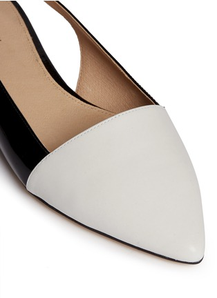 Detail View - Click To Enlarge - Michael Kors - 'Claudia' colourblock leather slingback flats
