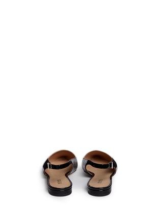 Back View - Click To Enlarge - Michael Kors - 'Claudia' colourblock leather slingback flats