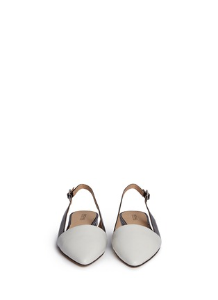 Front View - Click To Enlarge - Michael Kors - 'Claudia' colourblock leather slingback flats
