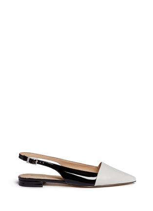 Main View - Click To Enlarge - Michael Kors - 'Claudia' colourblock leather slingback flats