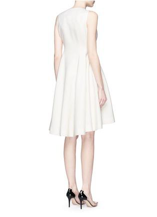 背面 - 点击放大 - ANIRAC - 不对称衣襟羊毛连衣裙