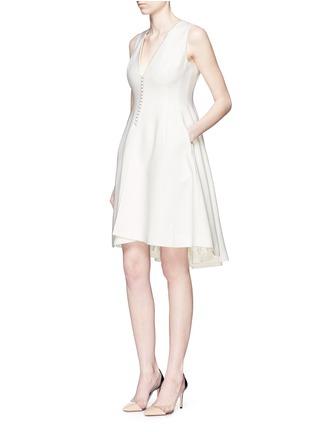 模特儿示范图 - 点击放大 - ANIRAC - 不对称衣襟羊毛连衣裙