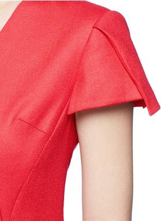 细节 - 点击放大 - ANIRAC - 不对称垂褶缀饰羊毛鱼尾裙