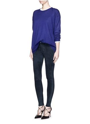 Figure View - Click To Enlarge - J Brand - 'Edita' lambskin suede leggings