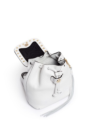 Detail View - Click To Enlarge - Rebecca Minkoff - Micro stud flap leather backpack