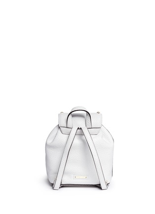 Back View - Click To Enlarge - Rebecca Minkoff - Micro stud flap leather backpack