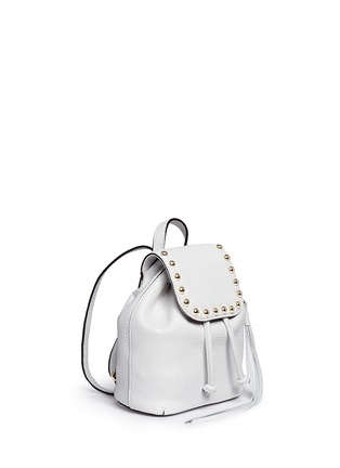 Front View - Click To Enlarge - Rebecca Minkoff - Micro stud flap leather backpack
