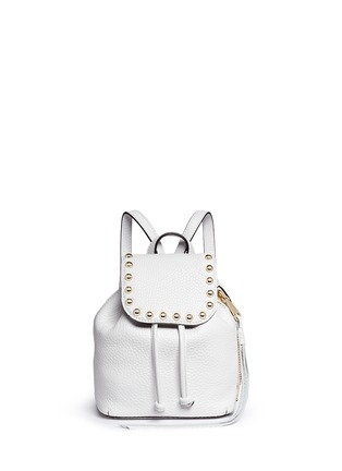 Main View - Click To Enlarge - Rebecca Minkoff - Micro stud flap leather backpack