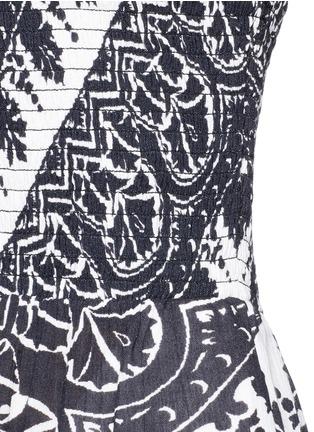 细节 - 点击放大 - ALICE + OLIVIA - RMP花卉印花露肩短连体裤