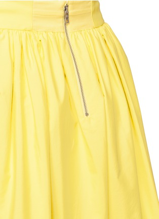 Detail View - Click To Enlarge - alice + olivia - 'Morina' lattice trim poplin flare skirt