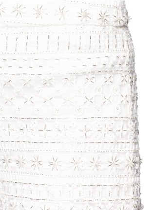 alice + olivia - Susi' embroidery bead embellished shorts