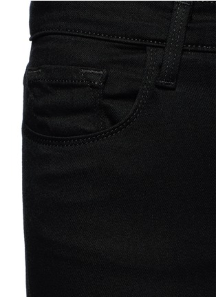 Detail View - Click To Enlarge - J Brand - 'Maria' exposed button flared pants