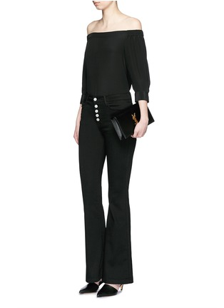 Figure View - Click To Enlarge - J Brand - 'Maria' exposed button flared pants