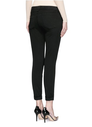 Back View - Click To Enlarge - J Brand - 'Anja' luxe sateen cropped pants