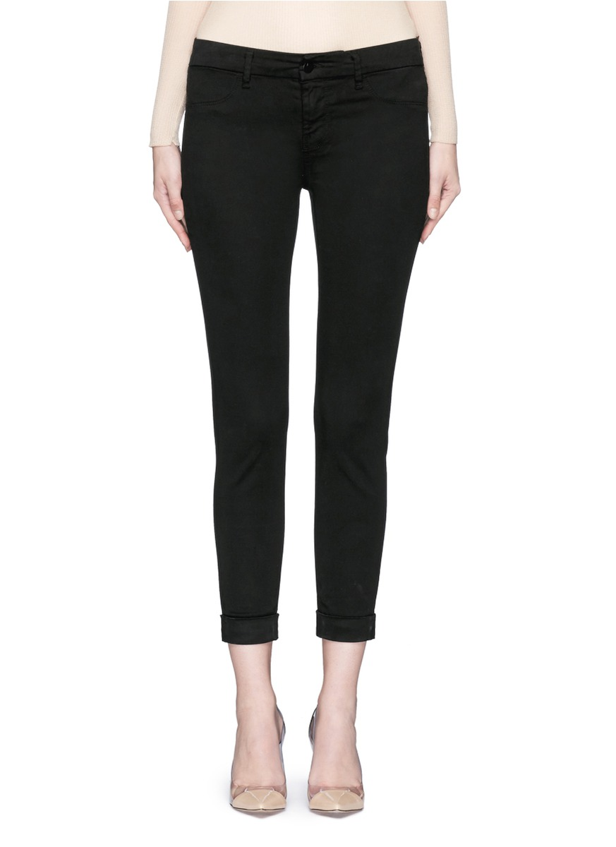 Anja luxe sateen cropped pants by J Brand