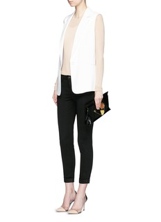 J Brand 'Anja' luxe sateen cropped pants
