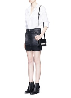 J BRAND'Leila' distressed denin skirt
