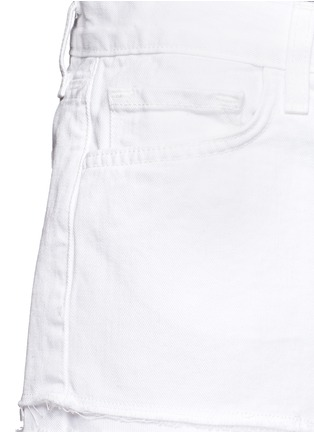 Detail View - Click To Enlarge - J Brand - 'Cut Off' low rise denim shorts