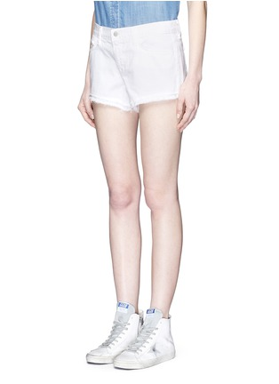 Front View - Click To Enlarge - J Brand - 'Cut Off' low rise denim shorts