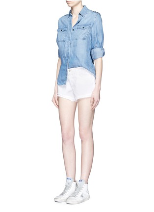 Figure View - Click To Enlarge - J Brand - 'Cut Off' low rise denim shorts