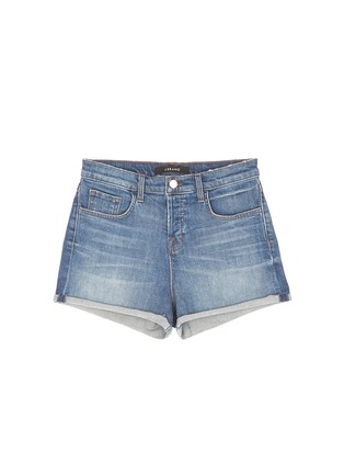 Main View - Click To Enlarge - J Brand - 'Gracie' high rise roll cuff denim shorts