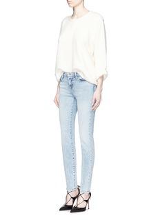 J BRAND'Mid Rise Skinny' sandblasted jeans