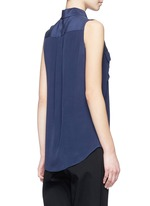 'Slim Signature' sleeveless silk shirt