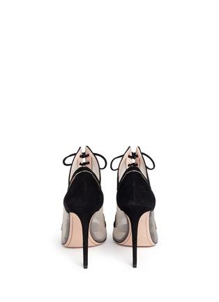 背面 - 点击放大 - NICHOLAS KIRKWOOD - 绒面皮拼接系带高跟鞋