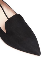 'Casati' faux pearl heel suede skimmer loafers