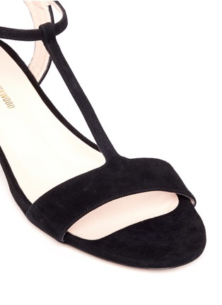 Detail View - Click To Enlarge - Nicholas Kirkwood - 'Casati' pearl heel T-strap suede sandals