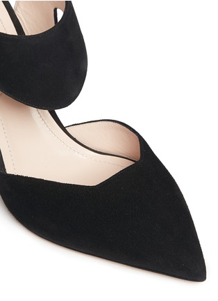 Detail View - Click To Enlarge - Nicholas Kirkwood - 'Leda' cutout vamp suede pumps