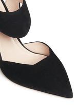 'Leda' cutout vamp suede pumps
