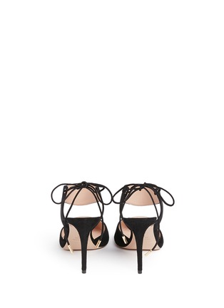 Back View - Click To Enlarge - Nicholas Kirkwood - 'Leda' cutout vamp suede pumps