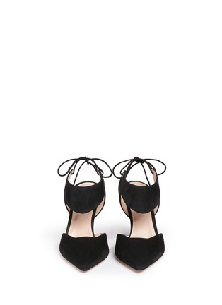 Front View - Click To Enlarge - Nicholas Kirkwood - 'Leda' cutout vamp suede pumps