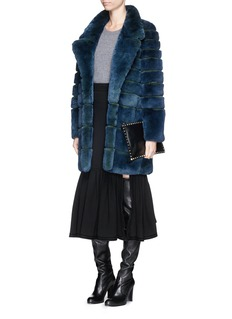 HOCKLEY'Palmyra' rabbit fur coat