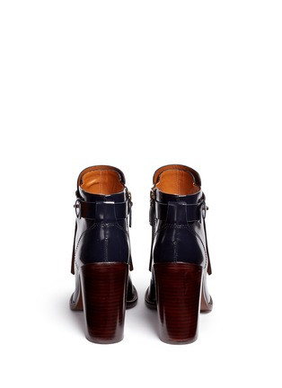 Back View - Click To Enlarge - Tory Burch - 'Hyde' kiltie flap leather boots