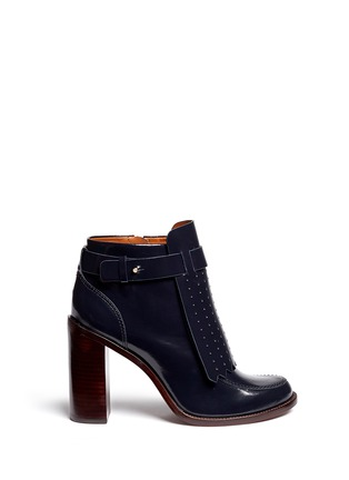 Main View - Click To Enlarge - Tory Burch - 'Hyde' kiltie flap leather boots