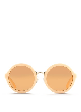 Main View - Click To Enlarge - 3.1 Phillip Lim - Stainless steel rim acetate sunglasses