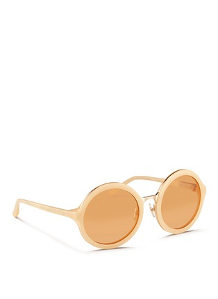 Figure View - Click To Enlarge - 3.1 Phillip Lim - Stainless steel rim acetate sunglasses