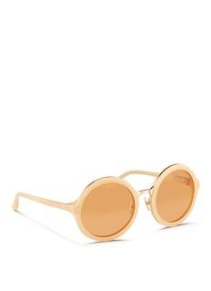 3.1 PHILLIP LIMx Linda Farrow stainless steel rim acetate sunglasses