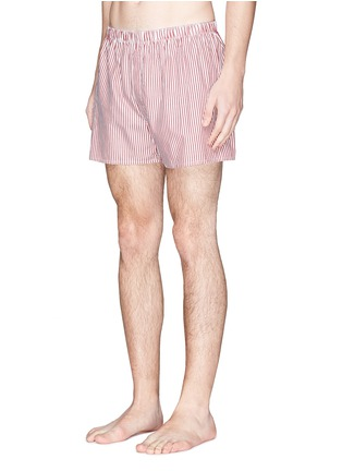 Figure View - Click To Enlarge - Sunspel - Bengal stripe boxer shorts