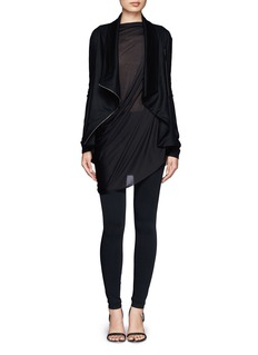 HELMUT LANG Draped shawl collar zip-front jacket