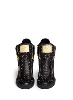 GIUSEPPE ZANOTTI DESIGN 'Lorenz' stud leather wedge sneakers