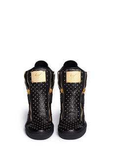 GIUSEPPE ZANOTTI DESIGN'Lorenz' stud leather wedge sneakers