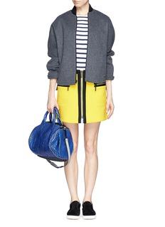 KENZOTrim zip front A-line skirt