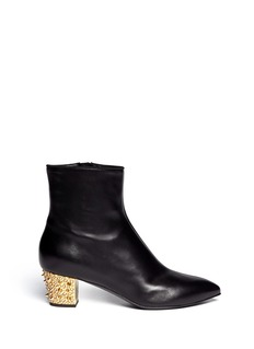 GIUSEPPE ZANOTTI DESIGN 'Dirty' crystal spike heel leather boots