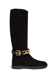 GIUSEPPE ZANOTTI DESIGN'Dalila' chain suede boots