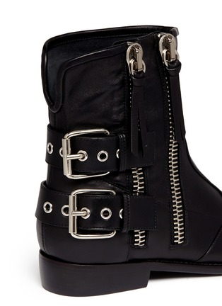 Detail View - Click To Enlarge - Giuseppe Zanotti Design - 'Cobain' Motorcycle buckle boots