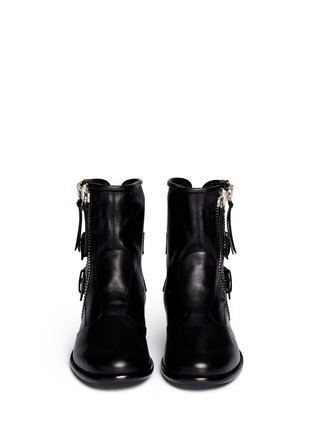Figure View - Click To Enlarge - Giuseppe Zanotti Design - 'Cobain' Motorcycle buckle boots