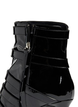 Detail View - Click To Enlarge - Giuseppe Zanotti Design - 'Yvette' patent leather buckle boots